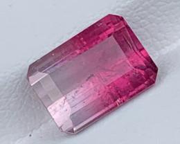 3.07 Carats Natural Bi  Color Tourmaline Gemstone