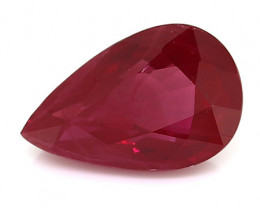 1.19 Carat Pear Shape Ruby: Fine Red