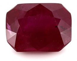 1.24 Carat Emerald Cut Ruby: Deep Rich Red