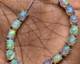 Amazing Nat 52.5 tcw. Rainbow Fire Opal Bracelet Untreated