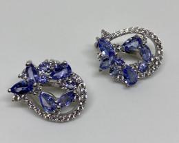 Beautiful 22 tcw. Natural Untreated Tanzanite VVS Earrings