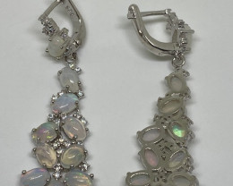 (26) Superb Nat 37.64 tcw. Fire Opal CZ Earrings