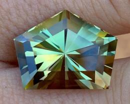 18.91 ct GIA Oregon Sunstone - Green Orange - Custom Cut