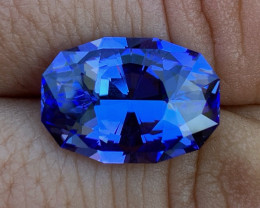 GIA Certified 8.66 ct Tanzanite - AAAA - Competition Level Cut by BlueTourm