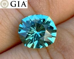 GIA Certified 3.09 ct Tourmaline - Seafoam Green - Cut by BlueTourmalineQue