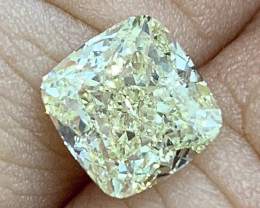 2.00 ct GIA Certified Diamond - VS2 - Light Yellow - Cushion $13,500