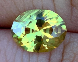 GIA Certified 3.35 ct Yellow Sapphire - No Heat - Appraisal Included $7000