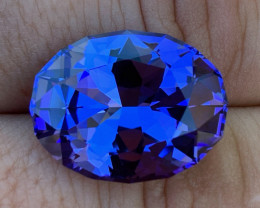 GIA Certified 22.20 ct Tanzanite - AAAA - Competition Cutting $25000