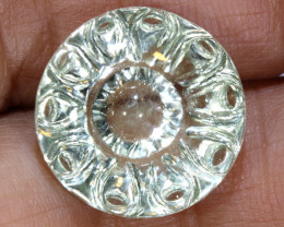 12.06 CTS - WHITE QUARTZ CARVED  LT-943