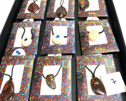 Parcel Opal inlay and ironstone Pendants  BR 2341