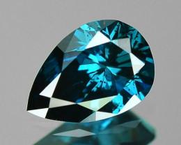 0.30 Cts Sparkling Fancy Intense Blue Color Natural Diamond