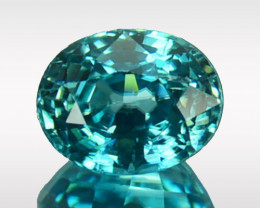 2.50 Cts Natural Sparkling Blue Zircon Oval Cut Cambodia
