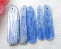 55.5cts Blue kyanite necklace ,nugget kyanite pendants ,healing stone E443