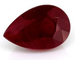 1.20 Carat Pear Shape Ruby: Rich Darkish Red
