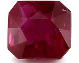 1.02 Carat Emerald Cut Ruby: Pigeon Blood Red