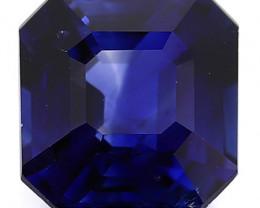 1.09 Carat Emerald Cut Blue Sapphire: Fine Navy Blue