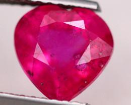 2.60ct Pinky Ruby Heart Cut Lot S172