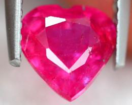 1.80ct Pinky Ruby Heart Cut Lot S174