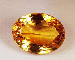 8.27ct Top Quality Gem Golden Whisky Color Natural Citrine