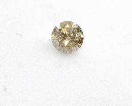 0.17ct Light Yellow  Diamond , 100% Natural Untreate