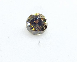 0.20ct Fancy Deep Brownish Green  Diamond , 100% Natural Untreate