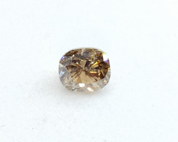 0.305ct  Fancy Light Brown   Diamond  , 100% Natural Untr