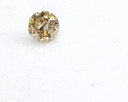 0.13ct Light Yellow  Diamond , 100% Natural Untreate