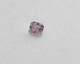 0.09ct Light Pink Diamond , 100% Natural Untreated