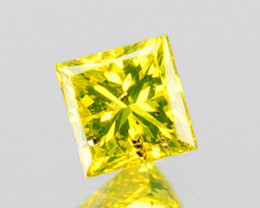 ~PRINCESS~ 0.07 Cts Natural Diamond Golden Yellow Square Cut Africa