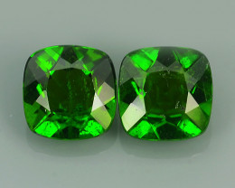 3.00 CTS NATURAL UNHEAT CHROME DIOPSIDE CUSHION