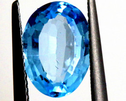 3.80 -  CTS  NATURAL BLUE TOPAZ FACETED  BG-485