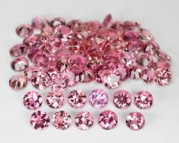 11.28 Cts 70pcs 3.50 MM Round  Pink Color Natural Tourmaline Gemstone