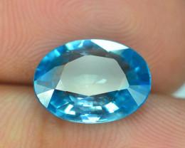 AAA Brilliance 4.35 ct Blue Zircon Cambodia