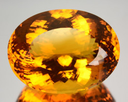 57.92 Cts Unheated Natural AAA Golden Orange Citrine Oval Cut Brazil