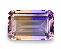 5.93 Cts Excellent Sparkling Bi Color Natural Ametrine Gemstone