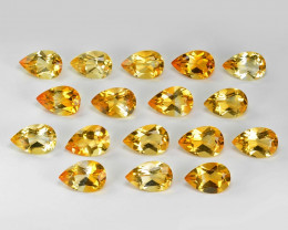 20.36  Cts 17pcs Excellent Rare Golden Yellow Color Natural Citrine Gemston
