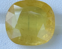 GFCO Certified 17.74 Carats Yellow Sapphire Gemstones