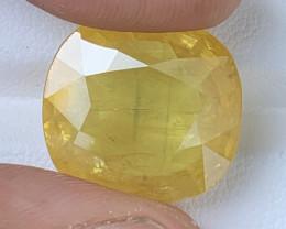 GFCO Certified 17.74 Carats Yellow Sapphire Gemstones