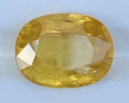 GFCO Certified 9.22 Carats YELLOW Sapphire Gemstones