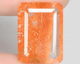 15.09 Carat Underwater Fish Scenario Lodolite Quartz Gemstone