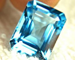 13.55 Carat Brazilian Blue VVS Topaz - Gorgeous
