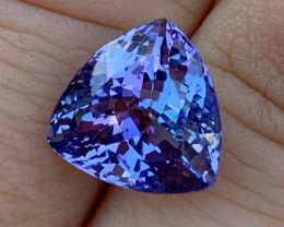 7.61 ct Unheated Tanzanite - Multi-Color