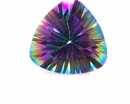 Mystic Quartz Gemstone Trillion Cut OMR 400