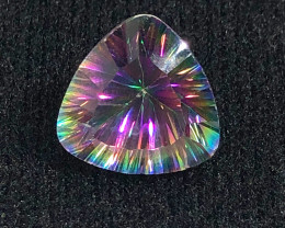 Mystic Quartz Gemstone Trillion Cut OMR 401