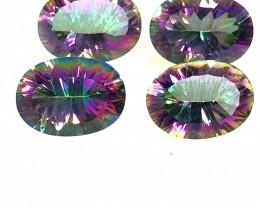 Four Mystic Quartz Gemstone Oval  Cut OMR 436