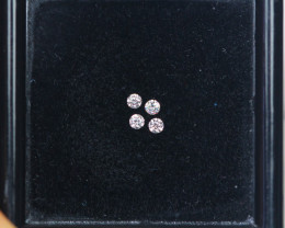 1.50mm Natural Light Pink To White Diamond Clarity VS Lot P100
