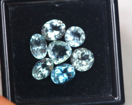 3.95ct Blue Aquamarine Mixed Cut Lot P111