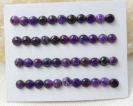 25ct Natural sugulite cabochon beads customized jewelry E485