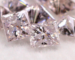 1.08Ct Natural Princess Cut Fancy Pink Color Diamond BM284