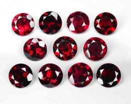 22.17 Cts 11pcs Unheated Natural Cherry Red Rhodolite Garnet Gemstone 8x4mm